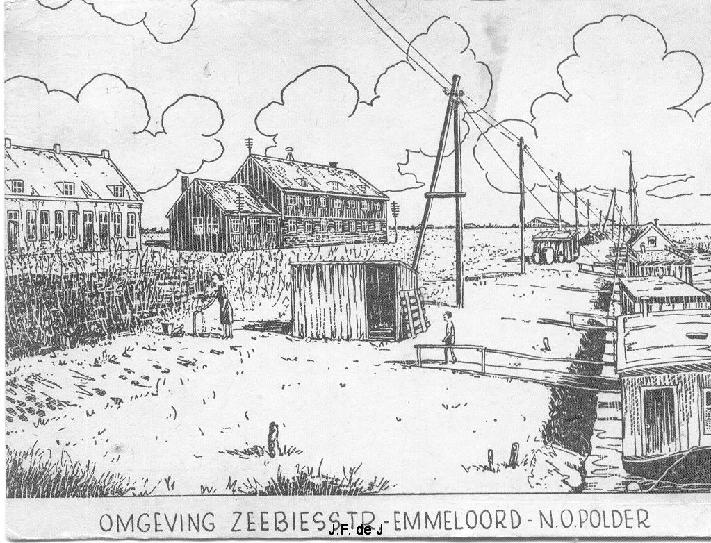 Emmeloord - Zeebiesstraat prent