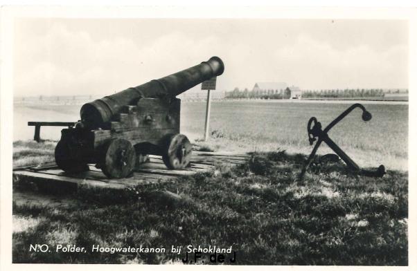 Schokland - Hoogwaterkanon