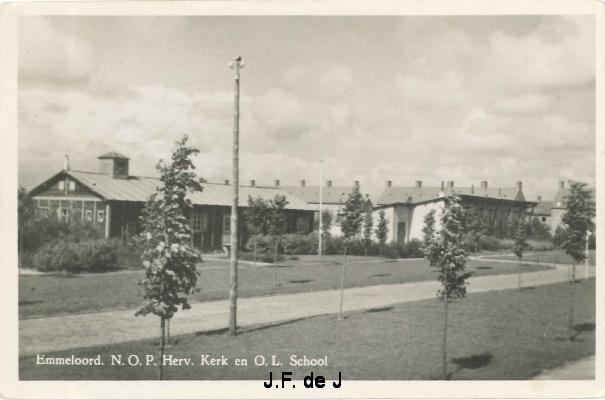 Emmeloord - Herv Kerk en OL School